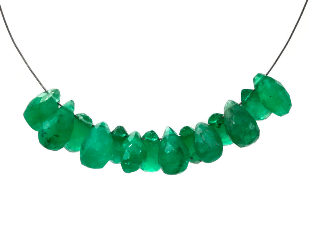Natural Emerald Necklace Green Emerald Necklace Emerald Beads Green Gemstone beads Emerald stone beads emerald gemstone beads 1ct 5-10mm-Emerald-Planet Gemstones