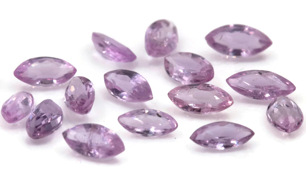 Natural sapphire Pink Sapphire Melee Sapphire Gemstone DIY Jewelry Supply Sapphire loose sapphire DIY Jewelry Supplies 5 PCS 4x2mm 0.42ct-Planet Gemstones