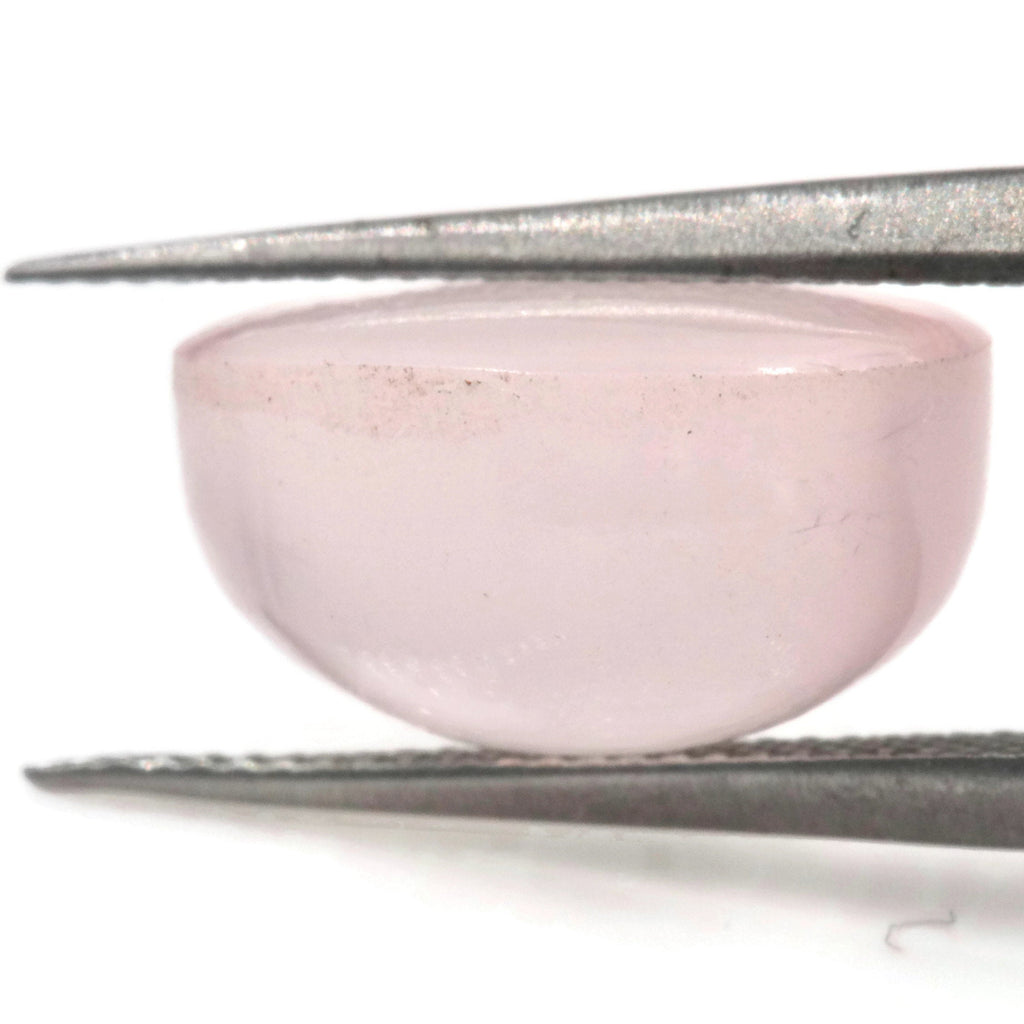 Natural Rose Quartz Gemstone Rose Quartz Stones Pink Quartz Stone ROSE QUARTZ, cabochon, 11x9mm, 4ct DIY Jewelry-Planet Gemstones