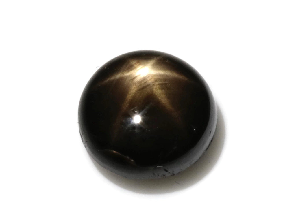 Natural Sapphire Star Sapphire Black Star Sapphire September Birthstone Golden Star Sapphire DIY Jewelry Supplies RD 2.20ct 7mm-Planet Gemstones