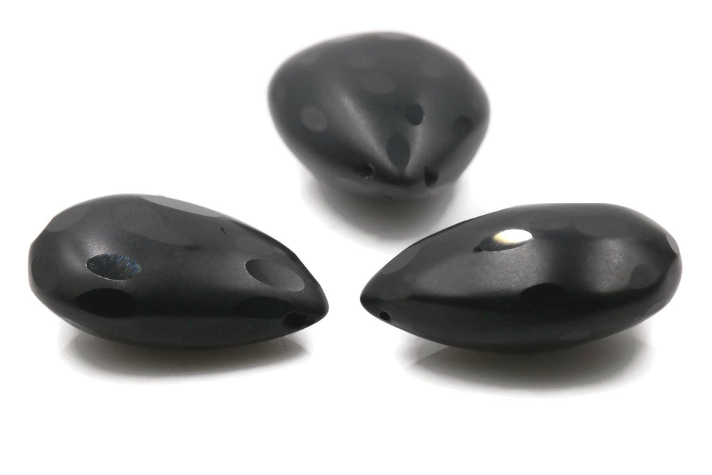 Natural Spinel Black spinel DIY August Birthstone DIY Jewelry Spinel Gemstone Spinel Loose Beads Spinel Black Spinel Briolette 17x11mm-Planet Gemstones