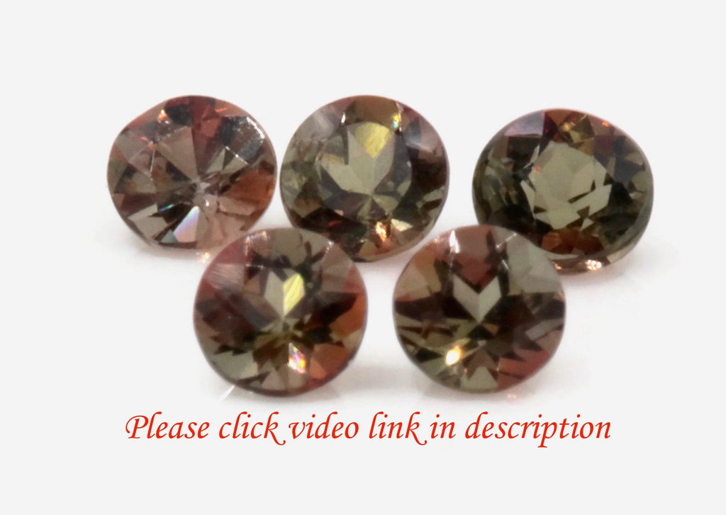 Natural Andalusite Andalusite Gemstone Genuine Andalusite Poor Man Alexandrite Faceted Andalusite DIY ANDALUSITE 5PCS SET 3mm 0.7ct-Planet Gemstones