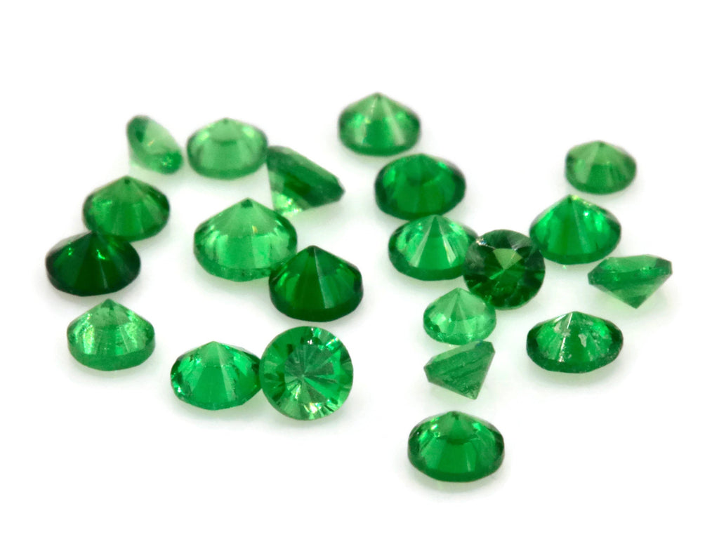 Tsavorite Natural Tsavorite Melee Tsavorite Garnet January Gemstone Green Garnet green Tsavorite 5PCS SET 2mm RD Loose Stone DIY Jewelry-Planet Gemstones