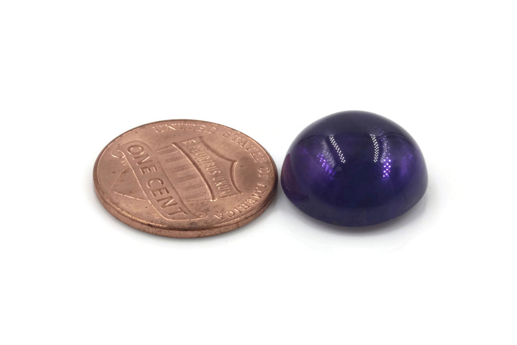 Natural amethyst gemstone amethyst cabochon loose stone genuine amethyst stone loose amethyst amethyst loose stone 15mm 10.96ct-Planet Gemstones