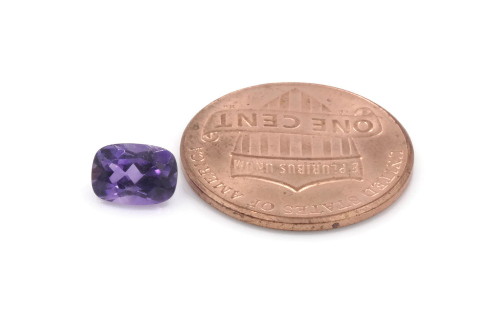 Natural amethyst gemstone amethyst faceted loose stone genuine amethyst stone loose amethyst amethyst loose stone 7x5mm 0.8ct-Planet Gemstones