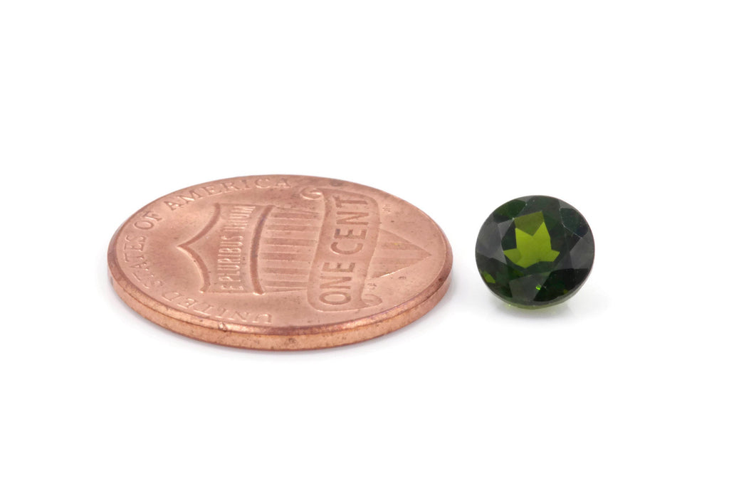 Natural Chrome diopside Green Gemstone Russian diopside Green Diopside DIY jewelry supplies Faceted Chrome diopside 6.5mm RD-Planet Gemstones