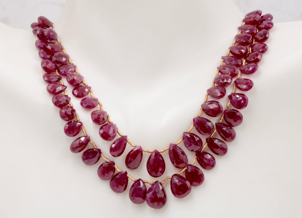 Genuine ruby beads Ruby bead necklace ruby gemstone beads ruby fuchsite beads necklace for women ruby necklace 8-10 inches long-Ruby-Planet Gemstones