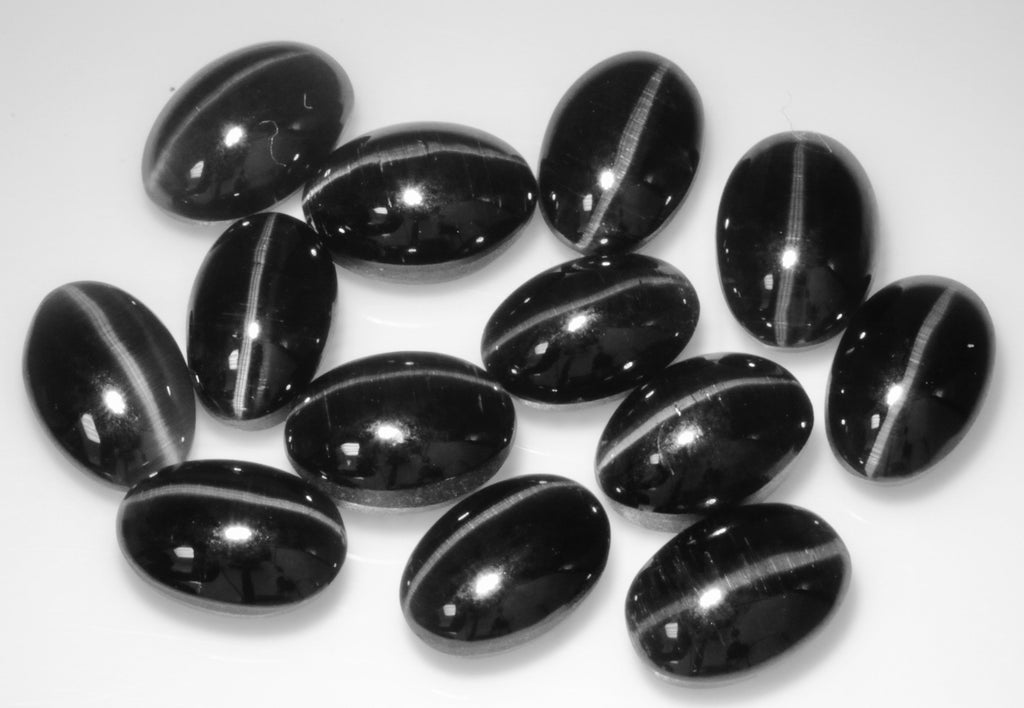 Natural Sillimanite Cats Eye Gemstone sillimanite genuine sillimanite sillimanite stone DIY Sillimanite Cats Eye OV 6x4mm, 3.50ct 5PCS SET-Planet Gemstones