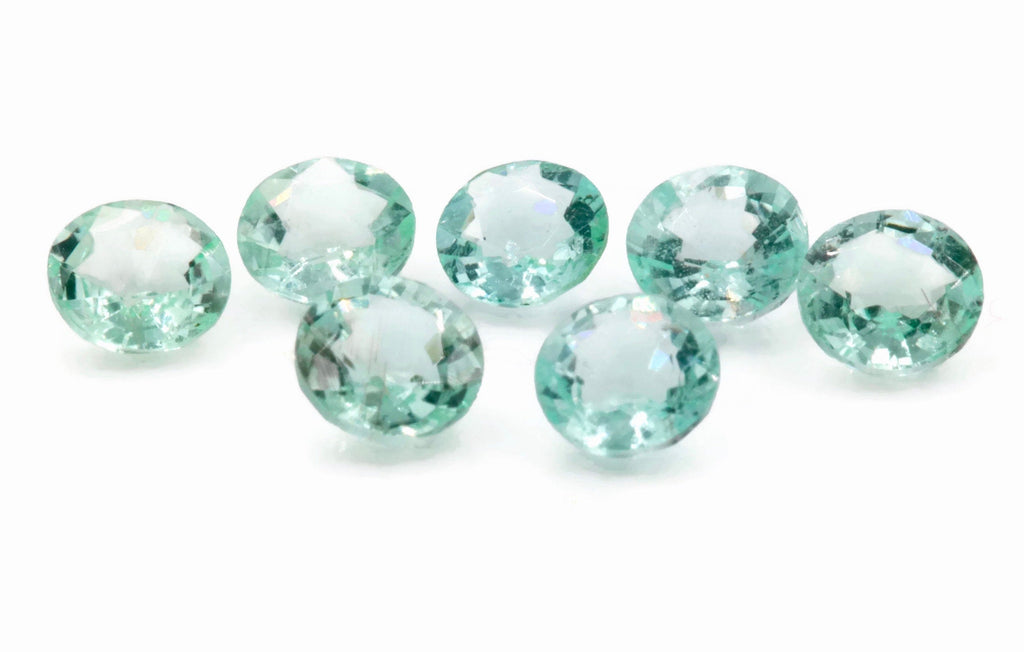 Natural Paraiba Tourmaline Green Tourmaline DIY Jewelry Supply Tourmaline October birthstone Paraiba Tourmaline RD 5mm-Tourmaline-Planet Gemstones