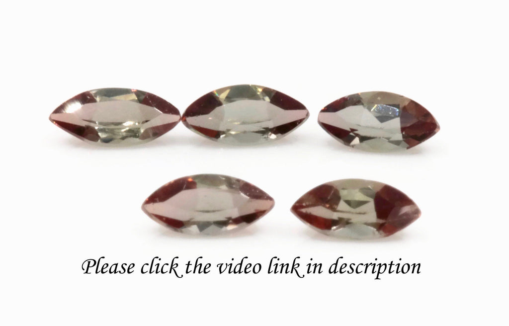 Natural Andalusite Andalusite Gemstone Genuine Andalusite Poor Man Alexandrite Faceted Andalusite DIY ANDALUSITE 5PCS SEST 5x2.5mm 0.75ct-Planet Gemstones