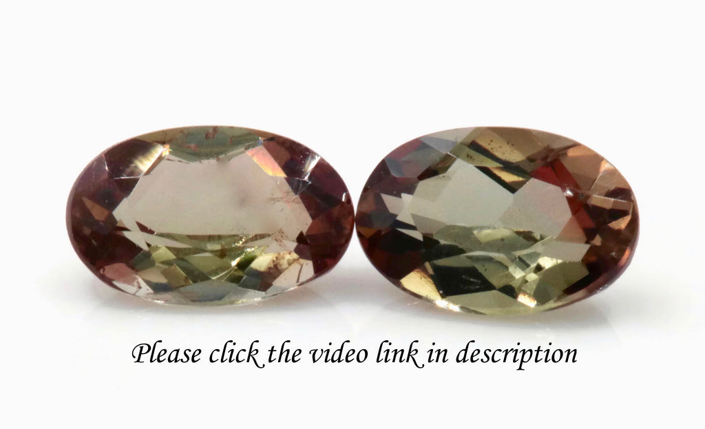 Natural Andalusite Andalusite Gemstone Genuine Andalusite Poor Man Alexandrite Faceted Andalusite DIY ANDALUSITE 2PCS SET 6x4mm 0.96ct-Planet Gemstones