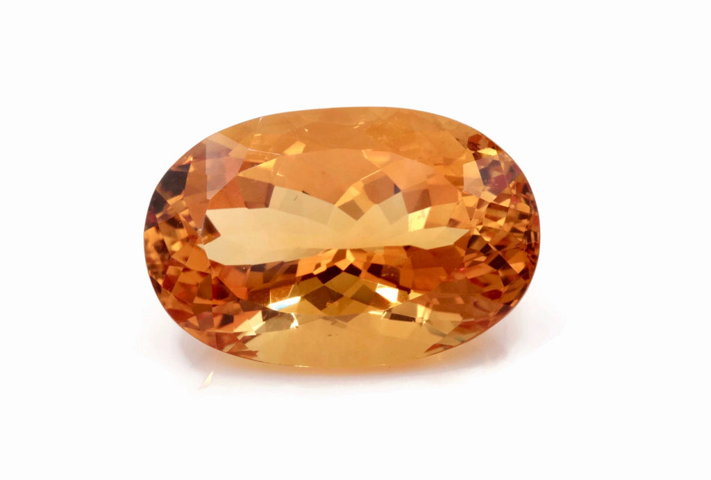 Natural Citrine Quartz Citrine Oval shape faceted Citrine Loose Gemstone November Birthstone Golden Citrine Quartz 28x18mm 38.9ct-Planet Gemstones