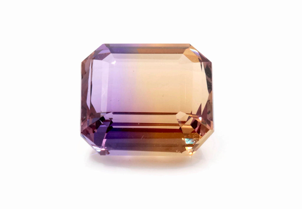 natural ametrine gemstone/ faceted ametrine loose stone/genuine ametrine for jewelry/ametrine gem stone ametrine loose 16x17mm 21.5ct-Planet Gemstones