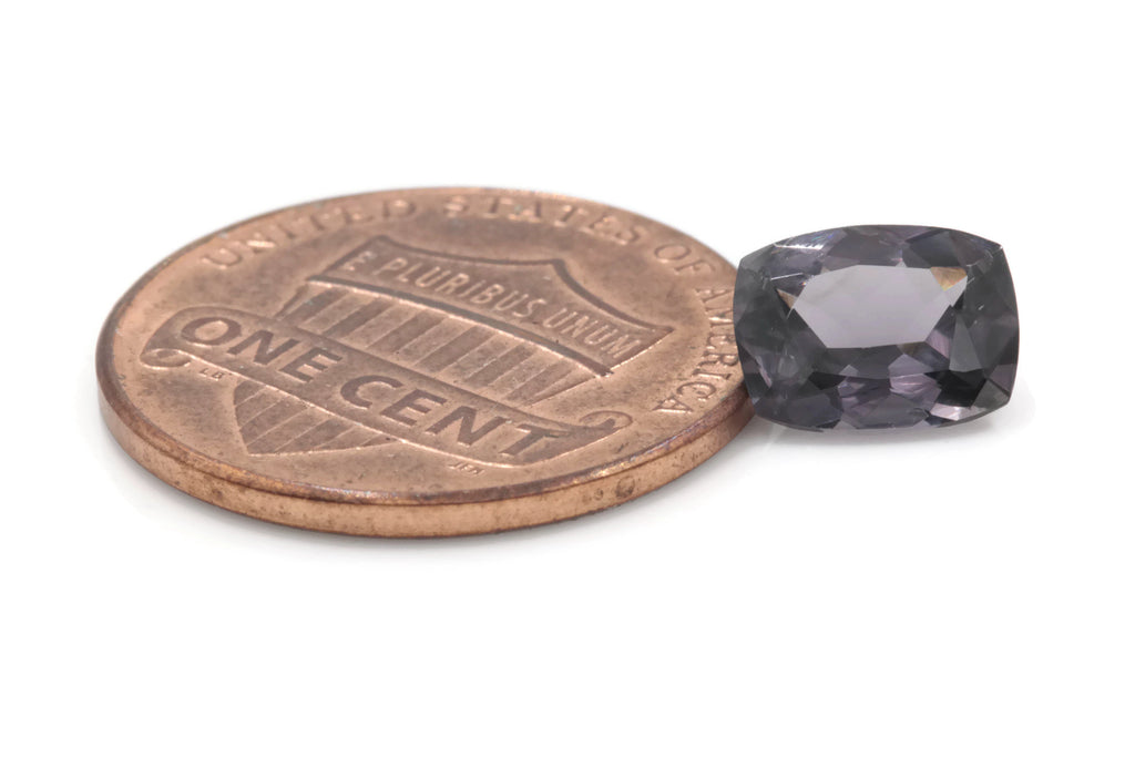 Natural Spinel Spinel Gemstone Genuine Spinel August birthstone Natural Lavender SPINEL 8x6mm Spinel Cushion 1.55ct Spinel Loose stone-Planet Gemstones