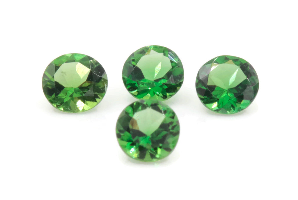 Natural Chrome Tourmaline Gemstone green stone natural chrome stone green tourmaline gems round 4mm 0.20ct DIY Jewelry Supplies-Tourmaline-Planet Gemstones