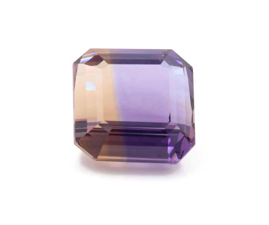 natural ametrine gemstone/ faceted ametrine loose stone/genuine ametrine for jewelry/ametrine gem stone ametrine loose 17mm 26.8ct-Planet Gemstones