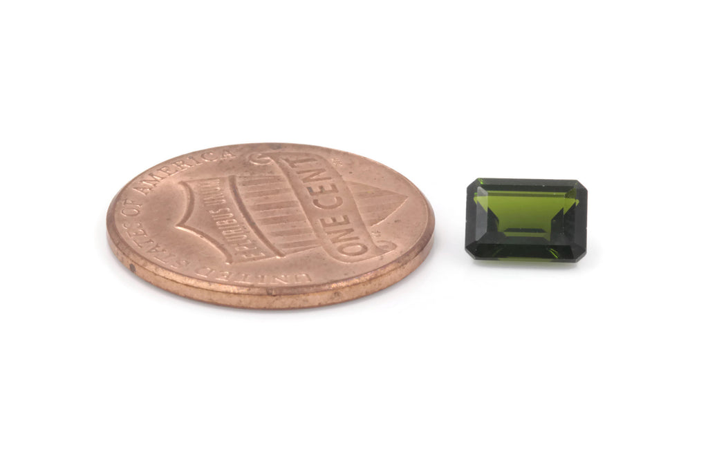 Natural Chrome diopside Green Gemstone Russian diopside Green Diopside DIY jewelry supplies Faceted Chrome diopside 7x5mm-Planet Gemstones