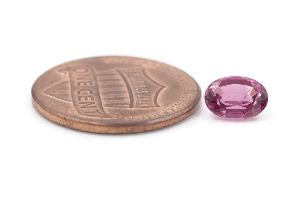 Natural Spinel Spinel Gemstone Genuine Spinel August birthstone Spinel Oval faceted 7x5mm Pink Spinel 1 stone 1.02ct Spinel Loose stone-Planet Gemstones