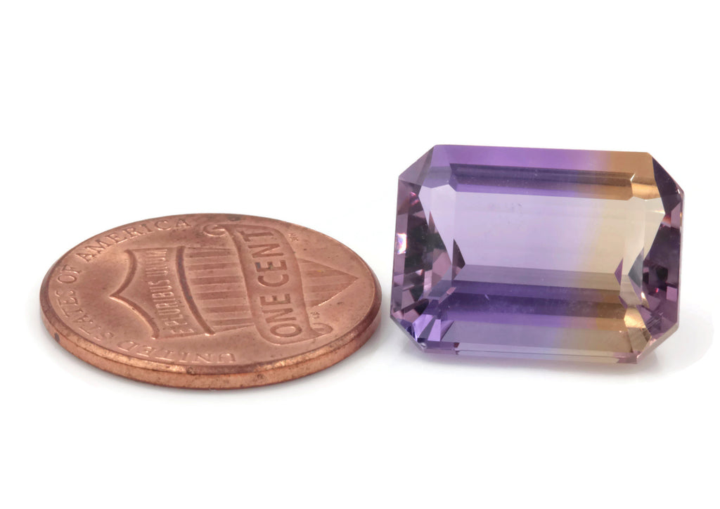 natural ametrine gemstone/top quality faceted ametrine loose stone/genuine ametrine for jewelry/ametrine gem stone 10x14mm 11.12ct-Planet Gemstones
