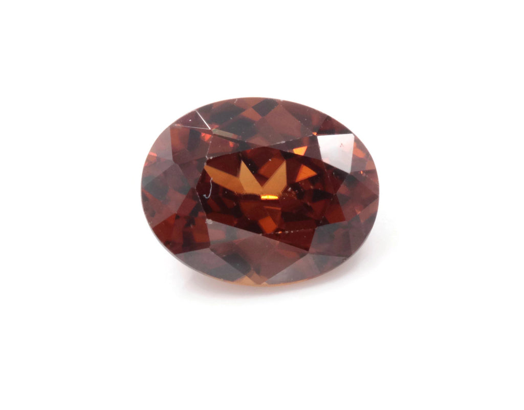 Natural Champagne Zircon Gemstone Faceted Zircon Loose Stone December Birthstone Genuine Champagne Zircon Faceted OV 9x7mm 5.70ct-Planet Gemstones