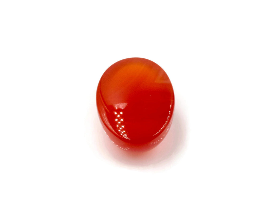 Natural Carnelian Gemstone red orange carnelian gem genuine carnelian Oval cabochon, 14x10mm, 5.99ct DIY Jewelry DIY Jewelry Supplies-Planet Gemstones