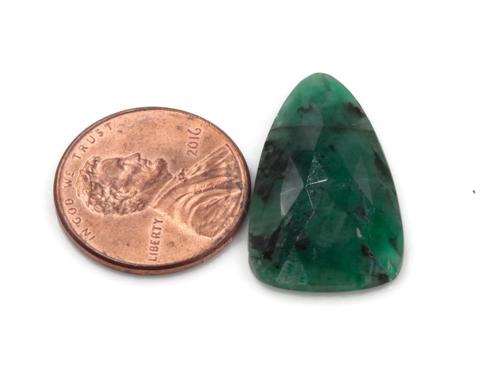 Natural Emerald Slice 15x25mm May Birthstone Emerald Green Diy Jewelry Diy Jewelry Supplies Natural Emerald Rose Cut DIY Jewelry Supplies-Planet Gemstones