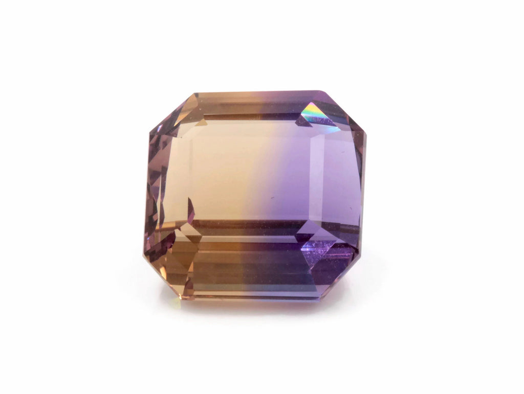 natural ametrine gemstone/ faceted ametrine loose stone/genuine ametrine for jewelry/ametrine gem stone ametrine loose 17mm 24.3ct-Planet Gemstones
