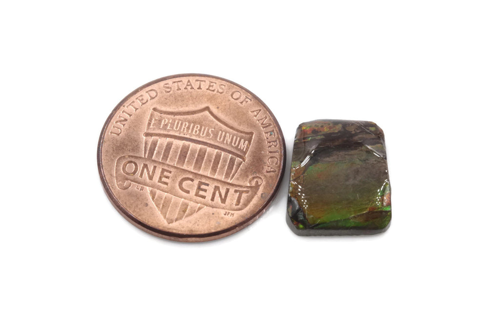 Natural Ammolite Gemstone | Cabochon Ammolite Loose Stone | Canadian Ammolite Gem | Genuine Ammolite Fancy shape 4.26 ct-Planet Gemstones