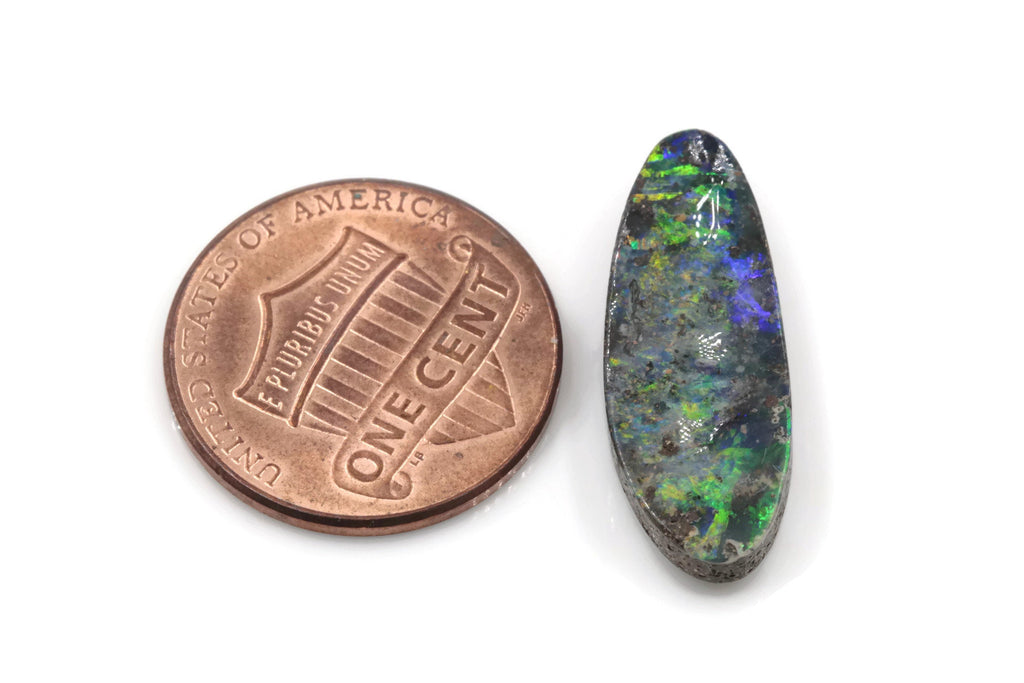 Natural Australian Boulder Opal Genuine Opal Stone Aussie Boulder Opal Stone 7.51ct 15x7mm DIY Jewelry Supplies-Planet Gemstones