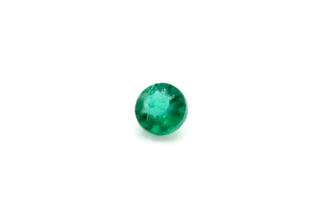 Emerald Natural Emerald May Birthstone Zambian Emerald Round Emerald DIY Jewelry Supplies Emerald Gemstone 0.11ct 3.25mm Emerald green-Emerald-Planet Gemstones