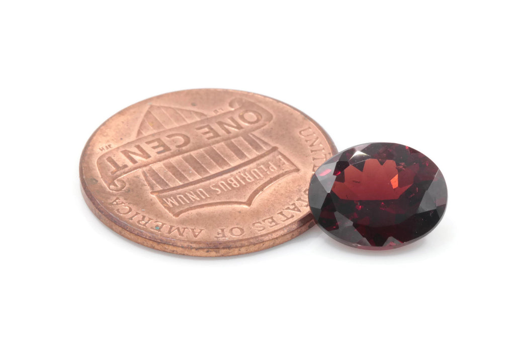 Natural Red Garnet | January Birthstone | Faceted Red Garnet loose gemstone | Mozambique Garnet 10x8mm 6.35ct-Planet Gemstones