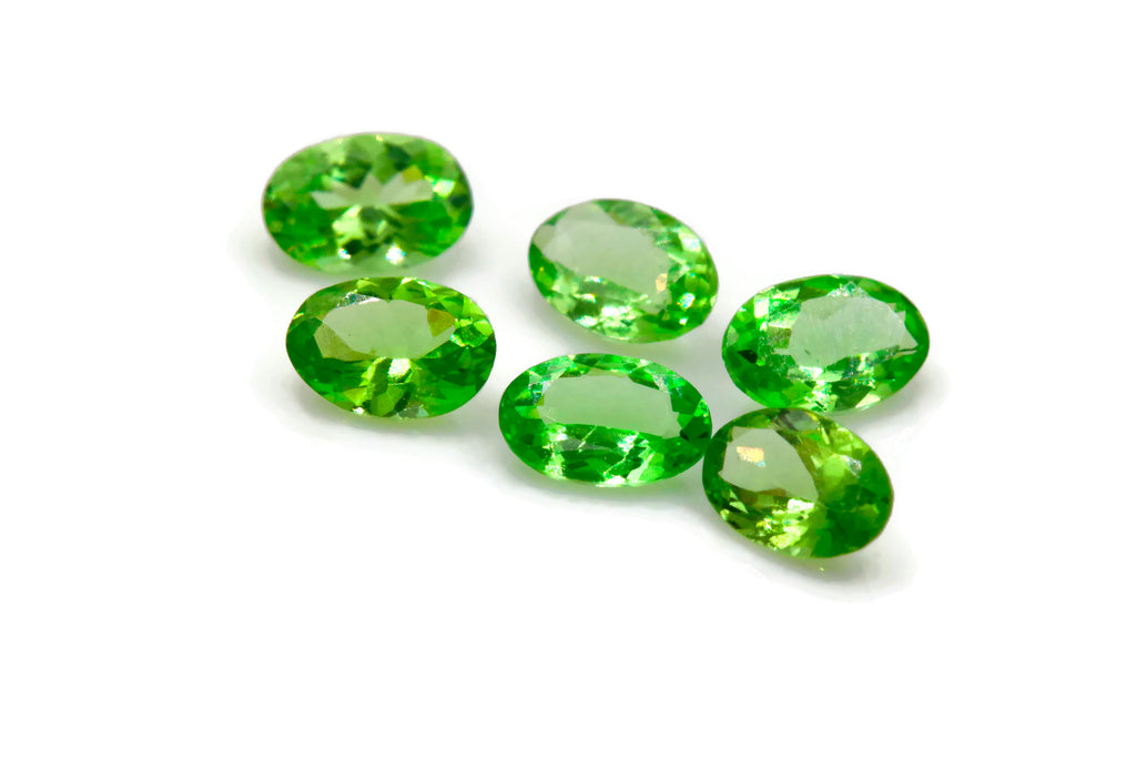 Tsavorite Natural Tsavorite Melee Tsavorite Garnet January Gemstone Green Garnet green Tsavorite 5x3mm 0.25ct-Planet Gemstones