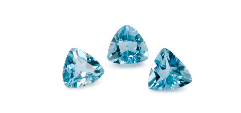 Aquamarine Natural Aquamarine March Birthstone DIY Jewelry Supplies Aquamarine Gemstone Blue Aquamarine Genuine Aquamarine 4mm 0.20ct-Aquamarine-Planet Gemstones