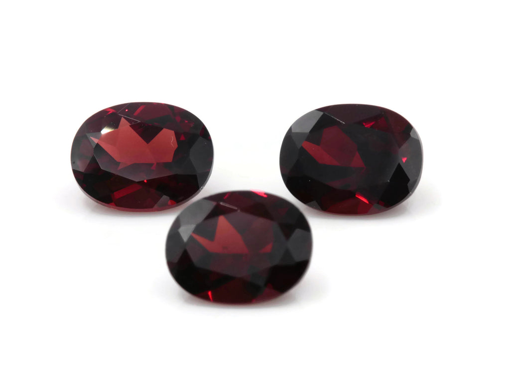 Natural Red Garnet 8x6mm OV 2.31ct January Birthstone Faceted Garnet gemstone DIY Red Garnet gemstone-Planet Gemstones
