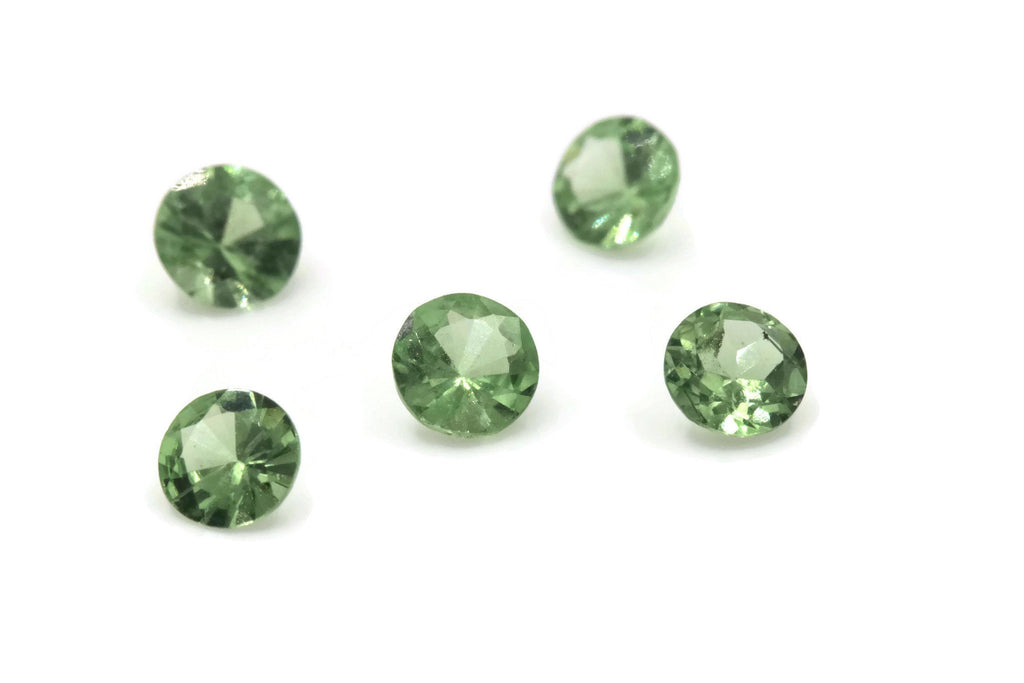 Tsavorite Natural Tsavorite Melee Tsavorite Garnet January Gemstone Green Garnet green Tsavorite 4mm 0.26ct-Planet Gemstones