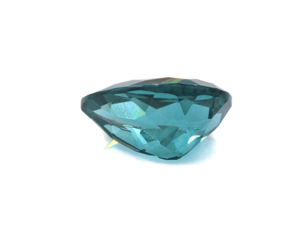 Natural Flourite Flourite Crystal Flourite Flourite Stone Teal Blue Flourite Loose Stone Jewelry Supplies DIY Jewelry 15 x 10 PEA Cut 6.6ct-Planet Gemstones