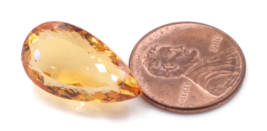 Natural Citrine Quartz Citrine shape Citrine Gemstone DIY Jewelry Supply November Birthstone Golden Citrine Quartz 21.15x11.63mm 15.5ct-Planet Gemstones