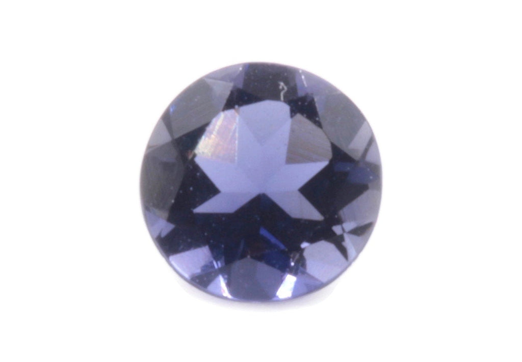 Natural Iolite Gemstone Faceted Iolite Stone Iolite Round Loose Iolite Vettrigemsusa 5mm Iolite Loose Stone DIY Jewelry Supplies 0.41ct-Planet Gemstones
