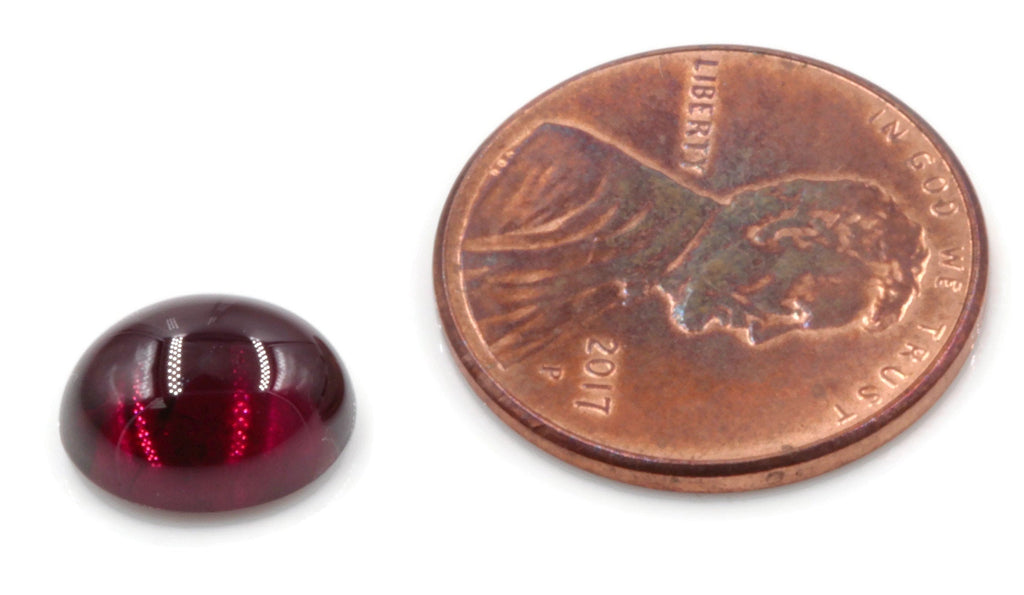 Garnet Natural Garnet January Birthstone Purple Garnet Garnet gemstone Rhodolite Garnet Garnet cabochon Red garnet DIY 10x8mm 3.75ct-Planet Gemstones