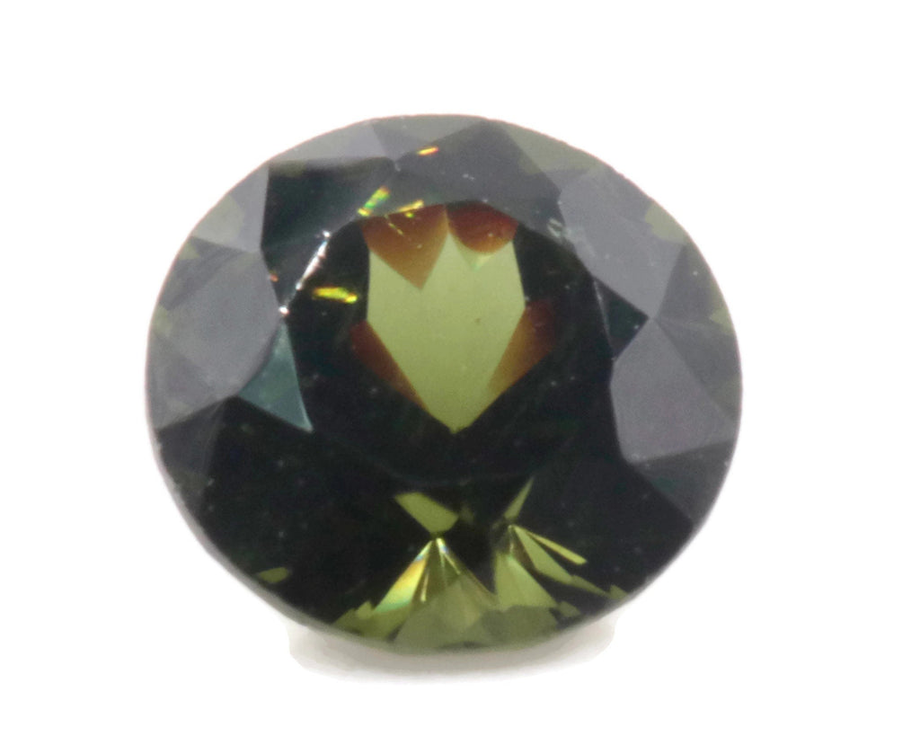 Natural Green Zircon Gemstone Faceted Green Zircon Loose Stone December Birthstone Genuine Green Zircon Stone Round 2.50ct 4mm SKU:113057-Planet Gemstones