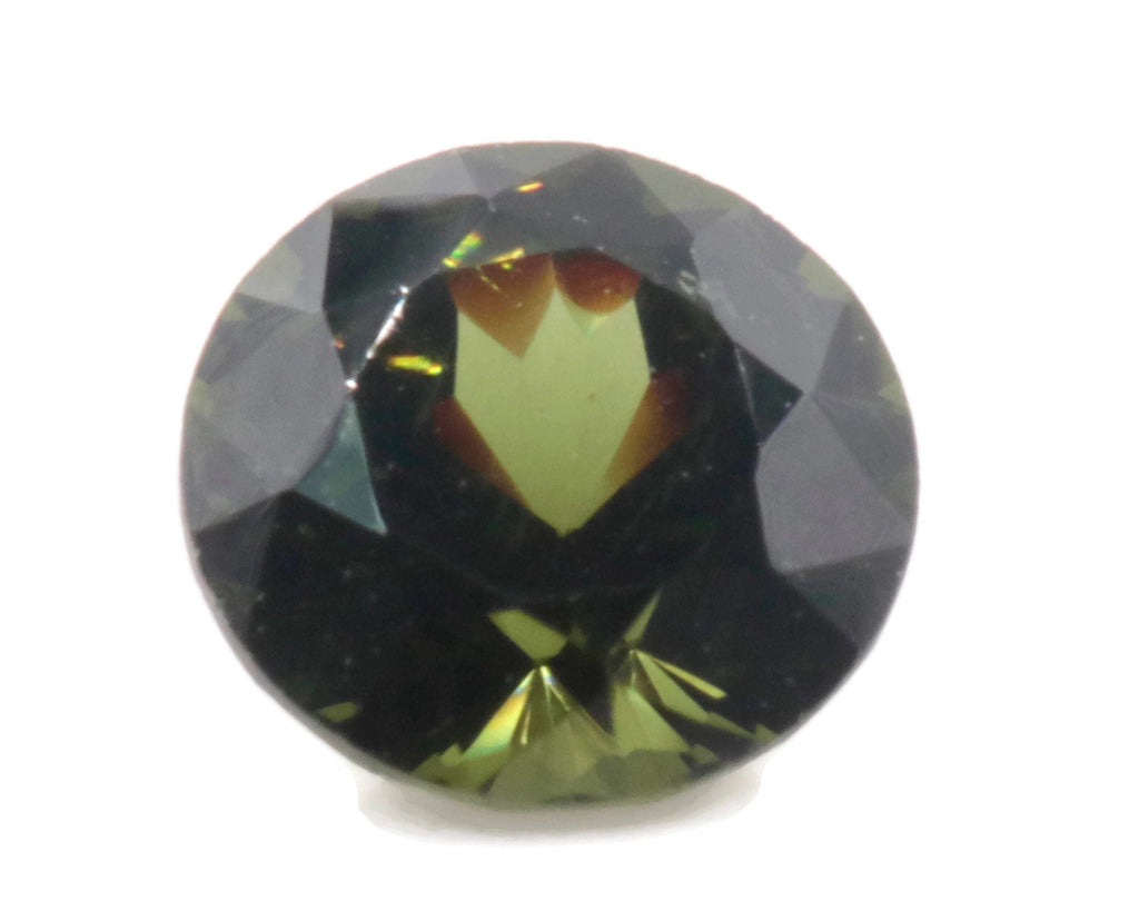 Natural Green Zircon Gemstone Faceted Green Zircon Loose Stone December Birthstone Genuine Green Zircon Stone Round 2.50ct 4mm SKU:113058-Planet Gemstones