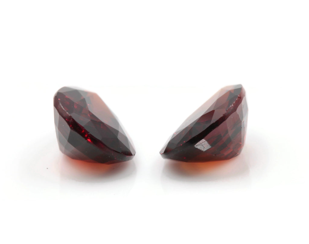 Hessonite Garnet Natural Hessonite Orange Garnet gemstone Hessonite Garnet Pair 11x8mm PR 6.50ct Loose Stones SKU:113127-Planet Gemstones