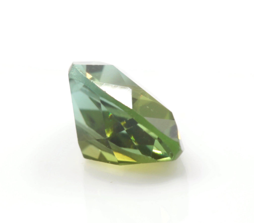 Natural Tourmaline Green Tourmaline DIY Jewelry Supply Tourmaline October birthstone Green Tourmaline TRI 1.18ct 9x6mm SKU:113118-Tourmaline-Planet Gemstones