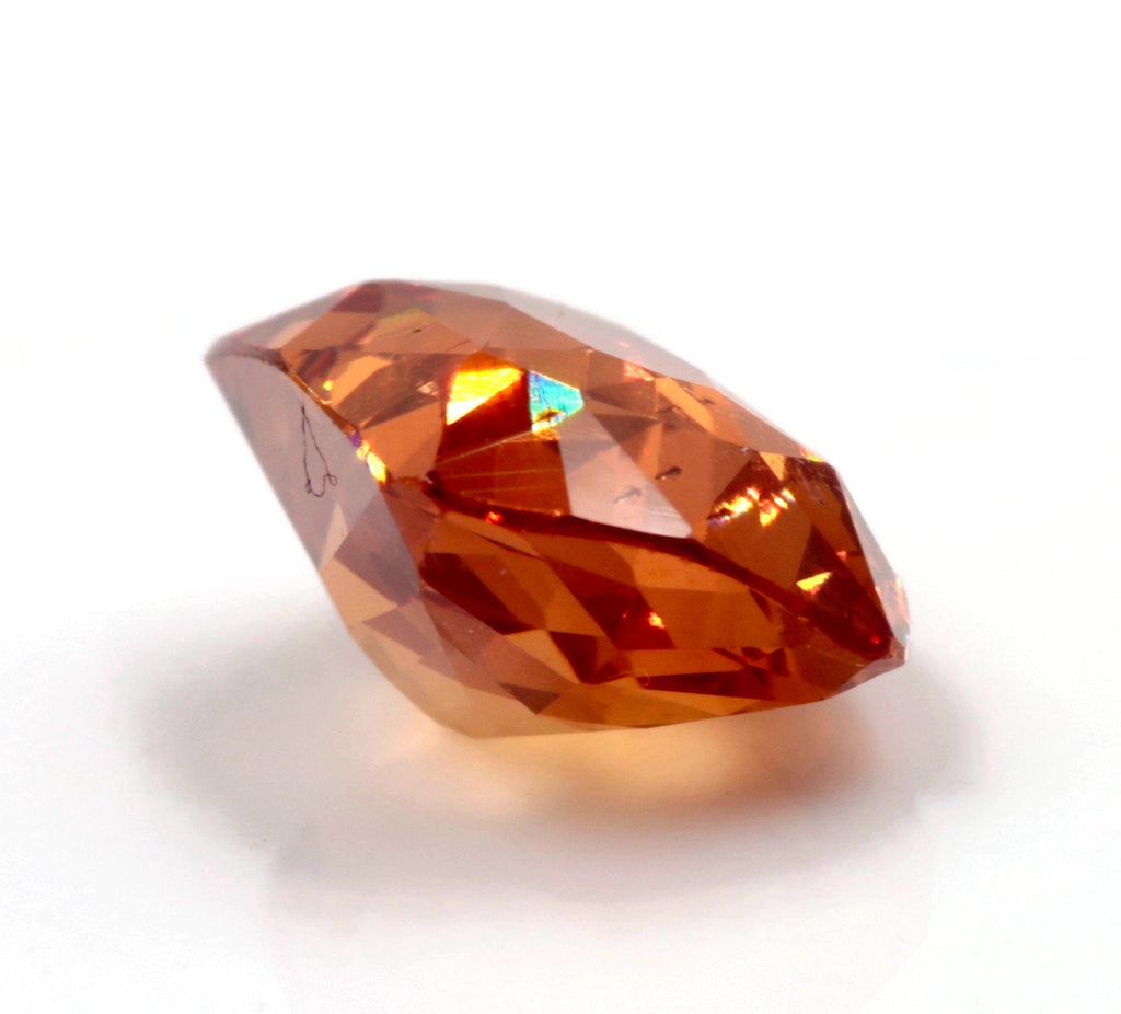 Spessartite | Natural Spessartite Garnet | Mandarin Spessartite Garnet | Orange Garnet | January Gemstone | CUS 10.7x8.3mm 4.75ct SKU:112940-Planet Gemstones