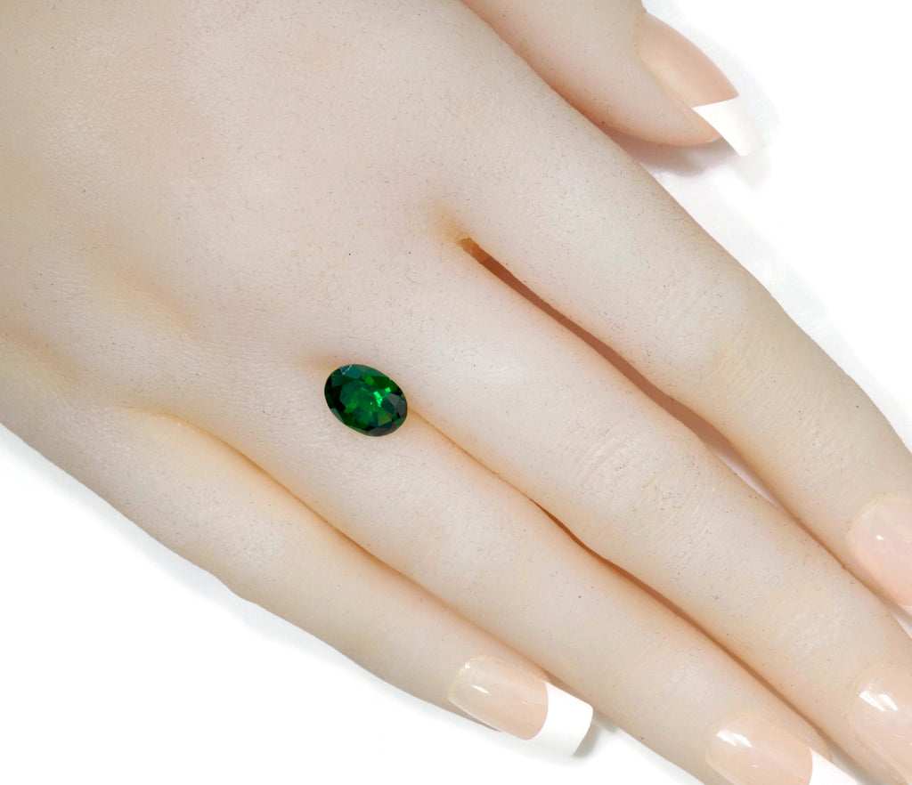 Tsavorite Natural Tsavorite Garnet January Gemstone Green Garnet Tsavorite 10X7mm OV Tsavorite Garnet Loose Stone 2.60ct SKU:113136-Planet Gemstones