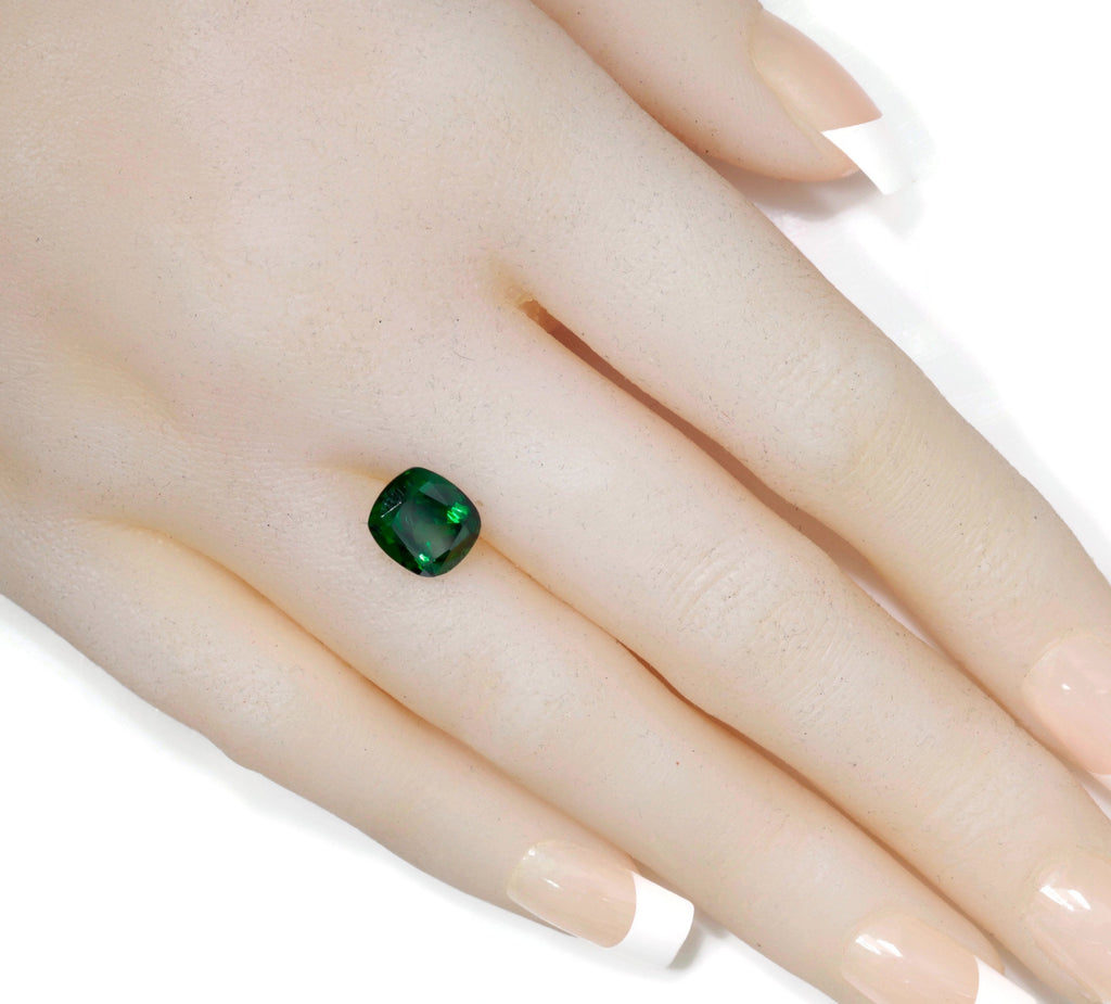 Tsavorite Natural Tsavorite Garnet January Gemstone Green Garnet Tsavorite 9X8mm CUS Tsavorite Garnet Loose Stone 3.16ct SKU:113137-Planet Gemstones