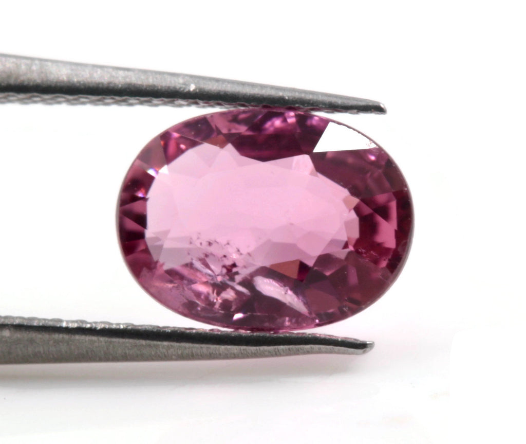 Natural Tourmaline Pink Tourmaline October Birthstone DIY Jewelry Pink Tourmaline Tourmaline Oval Tourmaline 0.75ct 7x5mm SKU:113133-Tourmaline-Planet Gemstones