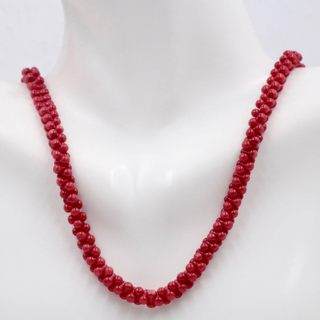 Coral Natural Coral Beads Coral Necklace DIY jewelry Supplies Coral Beads Necklace Coral Gemstone Red CORAL 6x2mm,16 Inches SKU: 113156-Planet Gemstones
