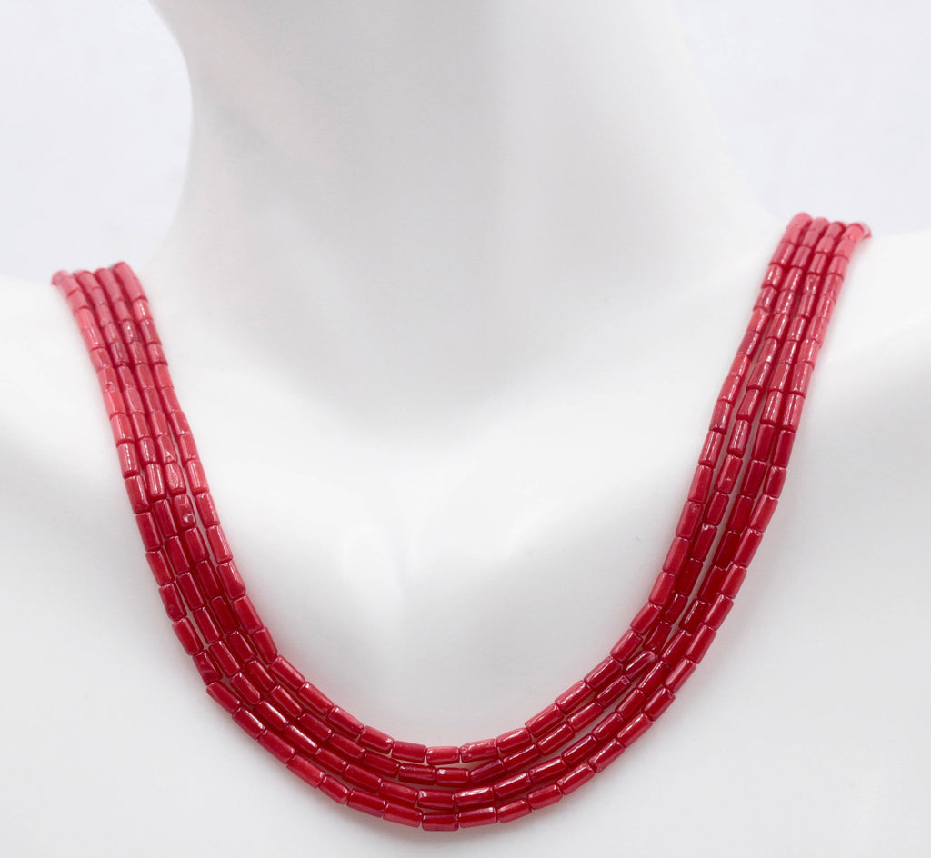 "Natural Coral Beads Coral Necklace Italian Coral beads Red Coral Beads Coral Beads Red Coral Beads Coral Bead Necklace 7x3mm 16"" SKU: 113157-Planet Gemstones"