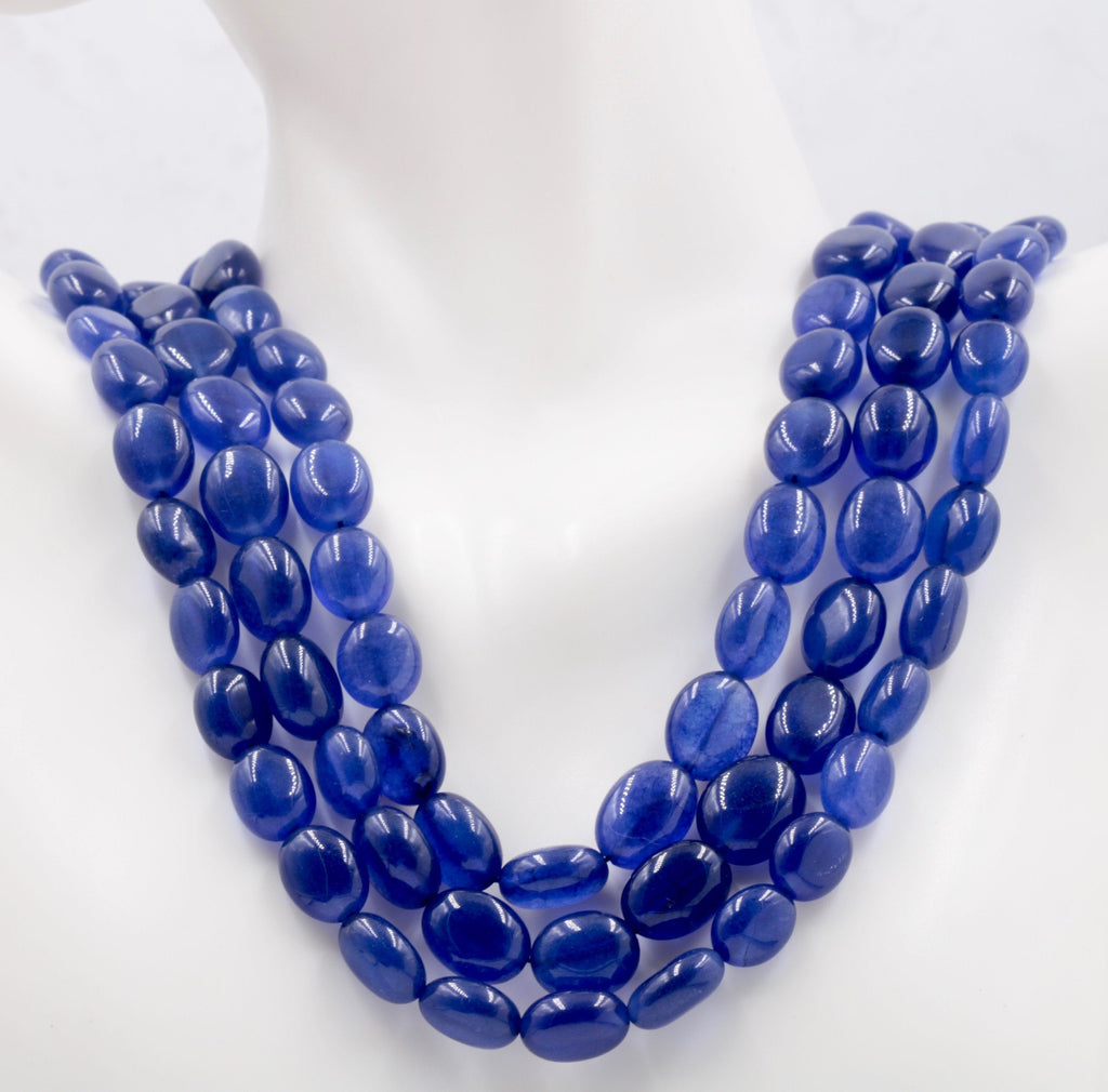 Genuine Sapphire Necklace Blue Sapphire Necklace Sapphire gemstone beads Blue gemstone necklace Sapphire Beaded Necklace SKU: 113215,114254-Planet Gemstones